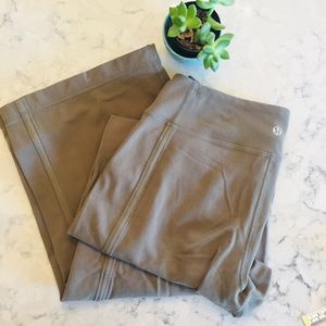 Lululemon wide leg exercise pants